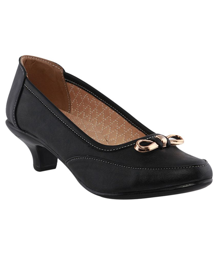Gcollection Black Heeled Slip-on