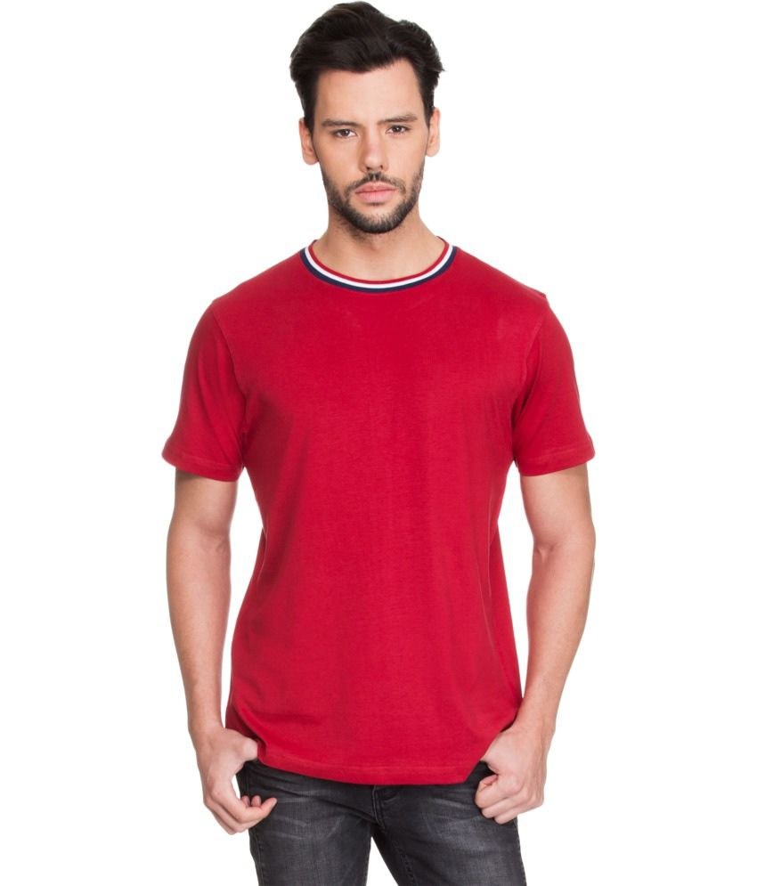 Zovi Red Cotton T-Shirt
