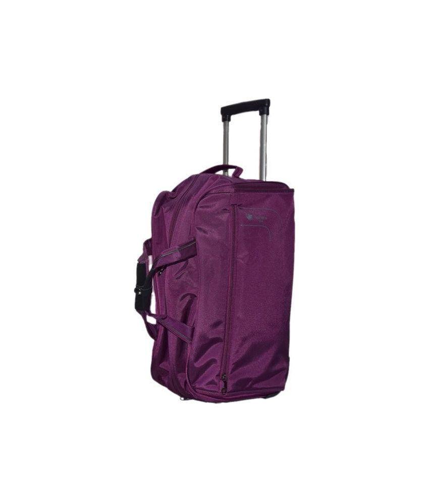 b2a5d244c2af Polo House USA Purple 2 Wheel Trolley Bag - Buy Polo House USA ...