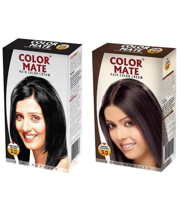 color mate hair color cream natural black dark brown buy color mate hair color cream natural Icon Hair Accessories  Icon Hair Coloring Cream