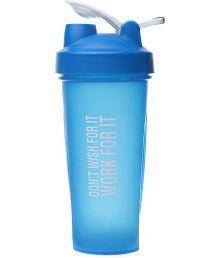 My 60 Minutes Blue Gym Shaker Bottle