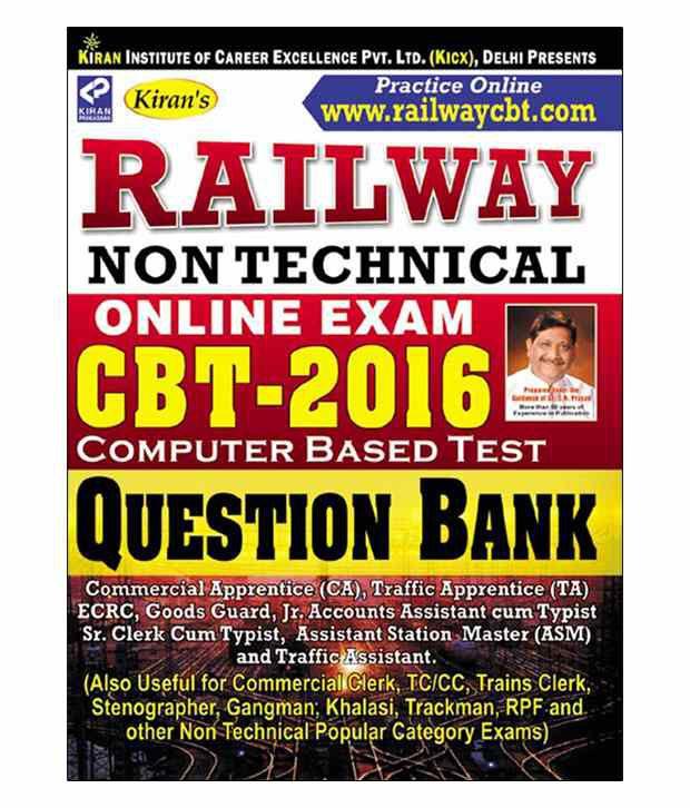 Kiran's Railway Non Technical Online Exam CBT – 2016 Question Bank: