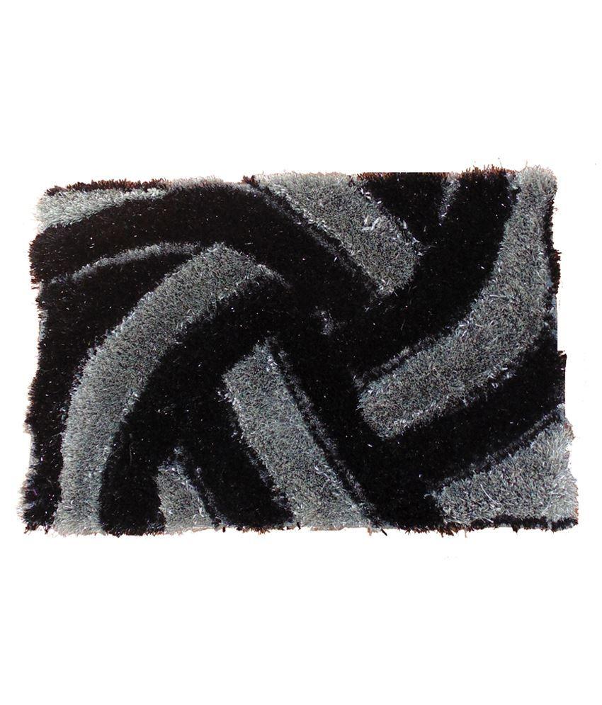 Presto Black Polyester Floor Mat