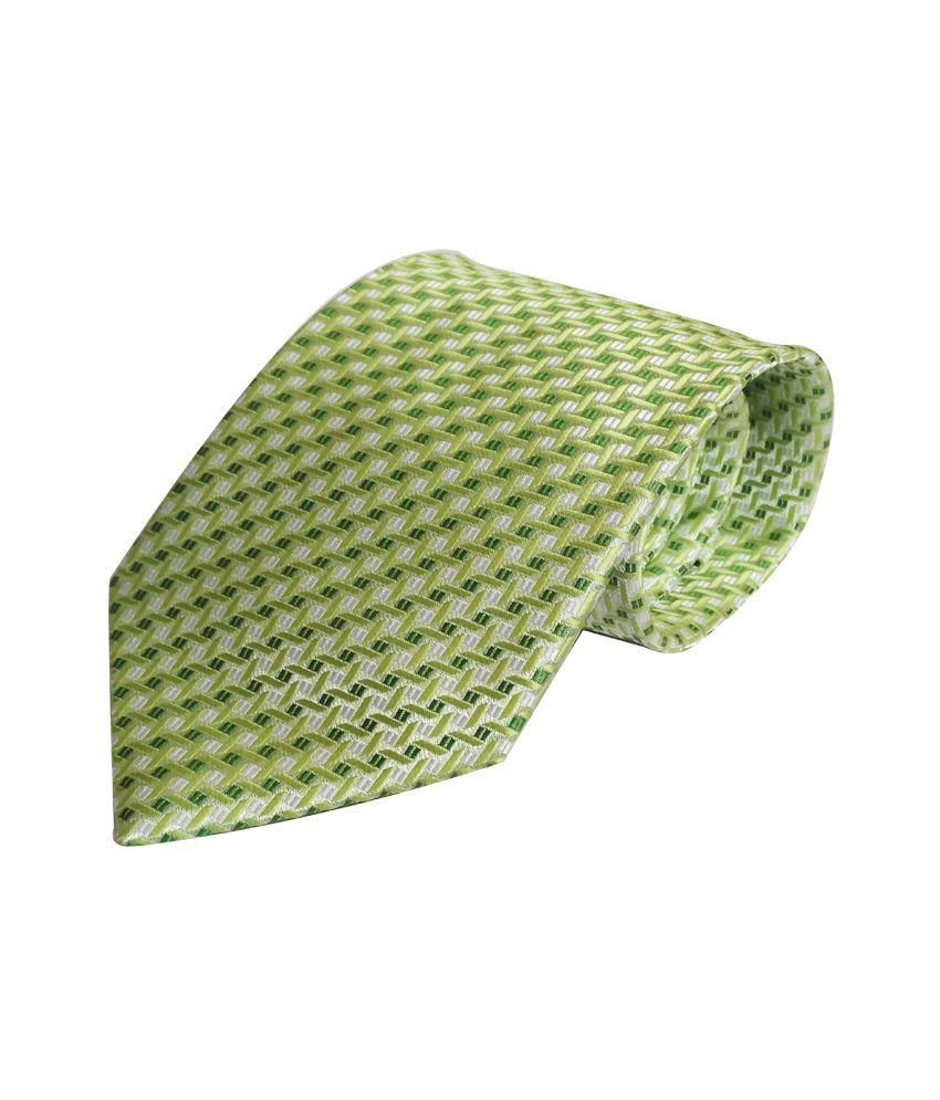 Willian Green Neck Tie with Pocket Square