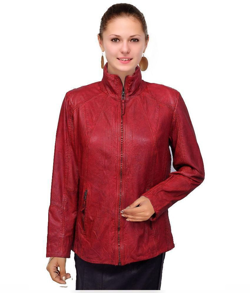DEEANNE LONDON Red Leather Jackets