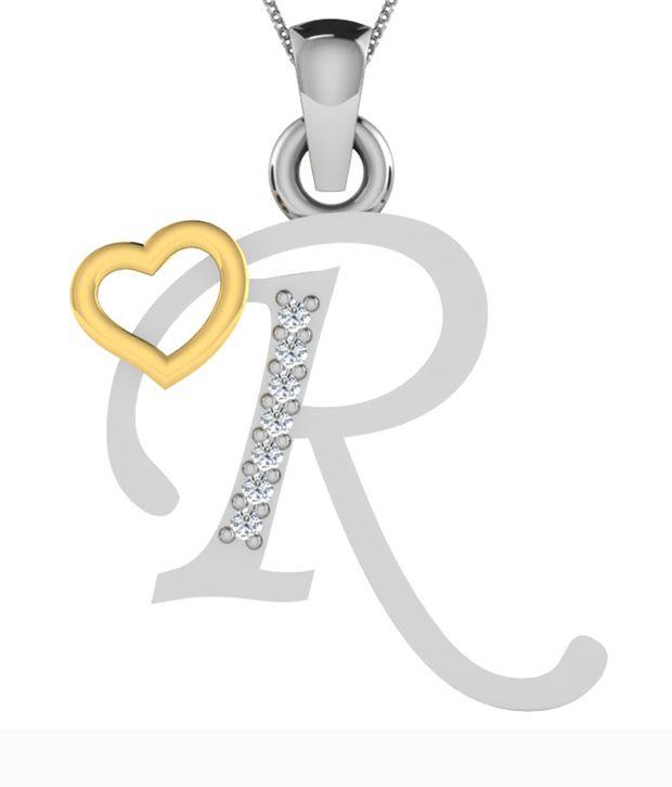 kataria jewellers letter r with valentine heart 92 5 bis hallmarked