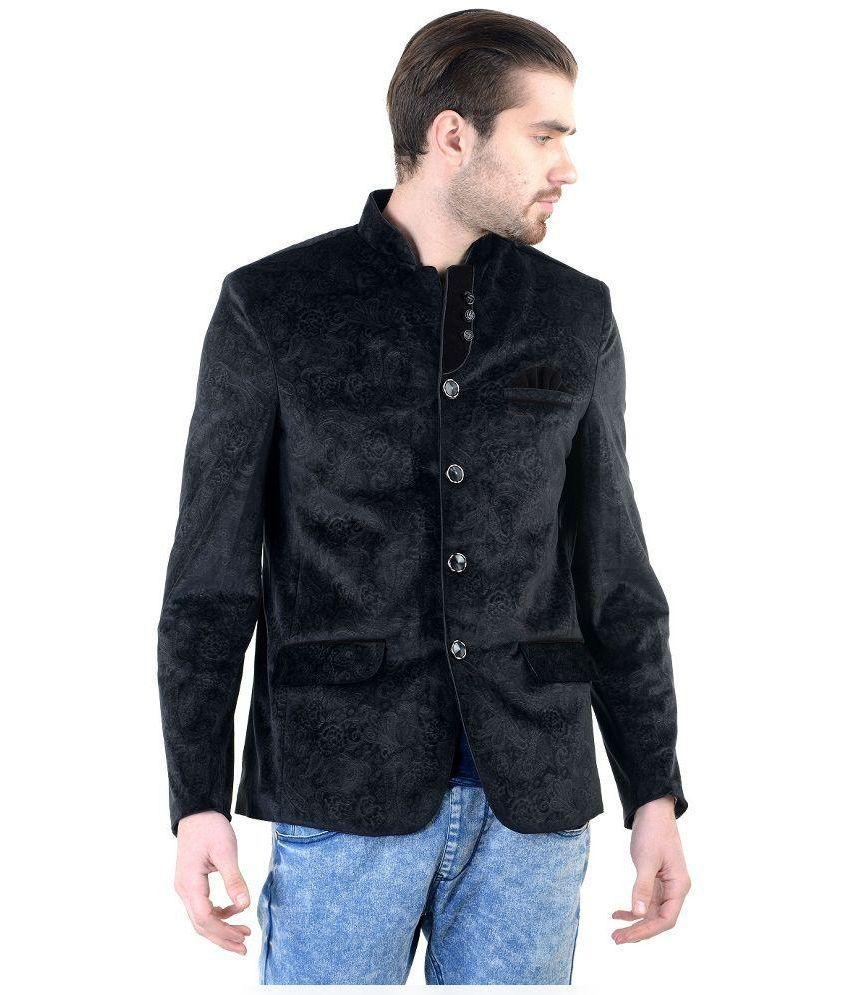 MM Fashion Black Velvet Blazer
