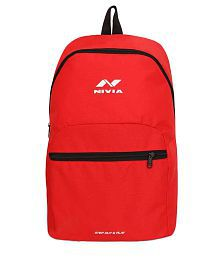 Nivia Beat Red Polyester Backpack