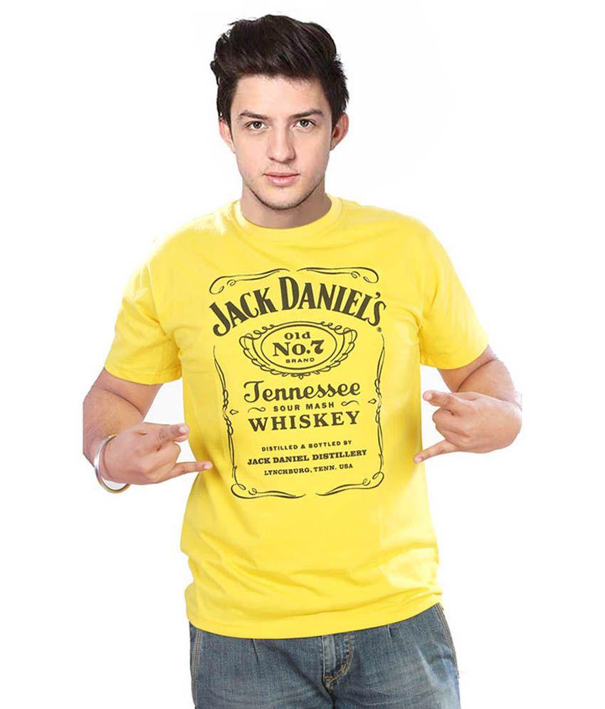 Fashion Ka Keeda Yellow Cotton Half Sleeve T-shirt