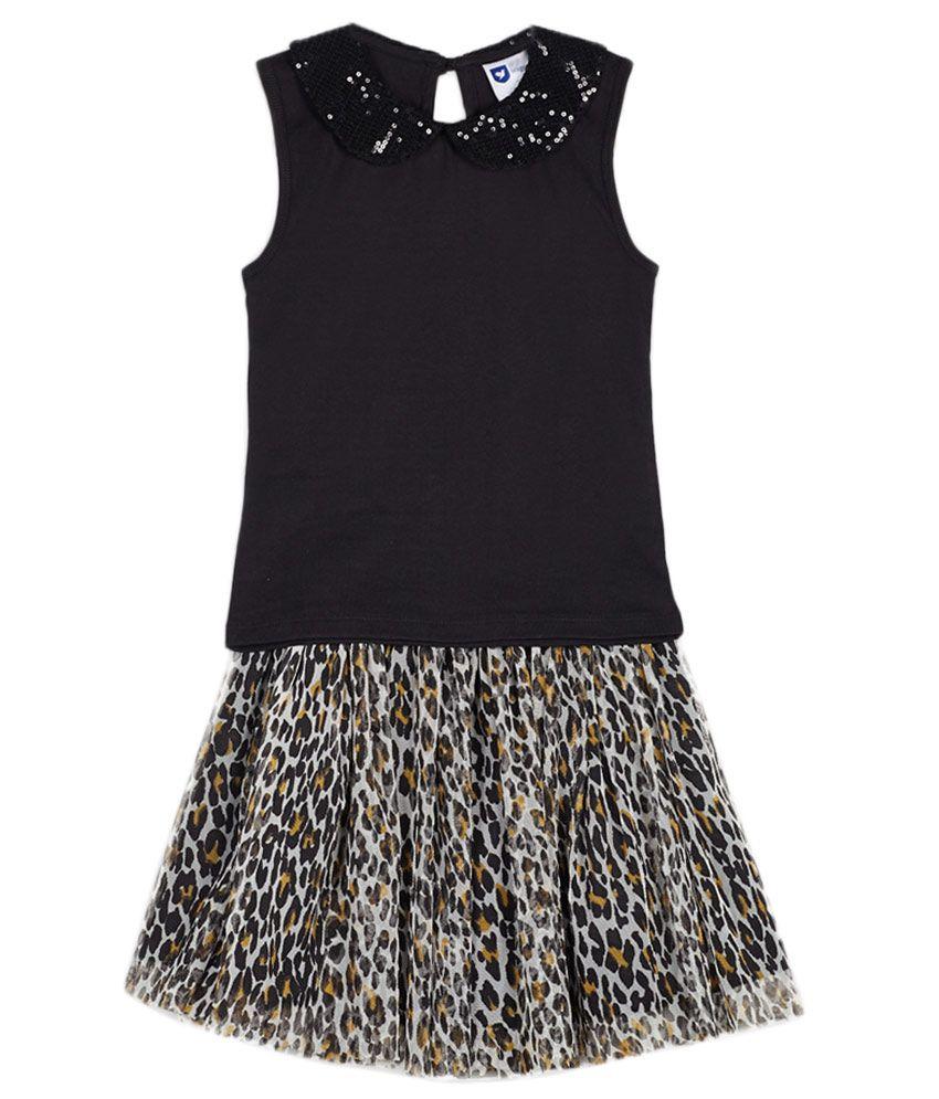 612 League Black Skirt set