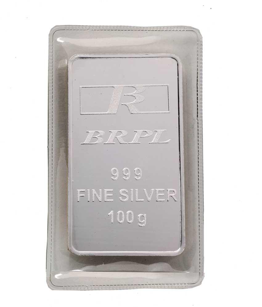 Bangalore Refinery 100 Gram 999 Purity Silver Bar Buy Bangalore