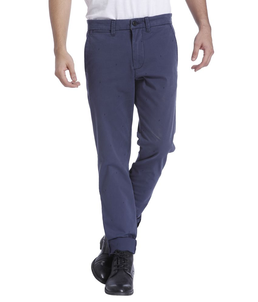 Jack & Jones Navy Slim Fit Casual Trousers