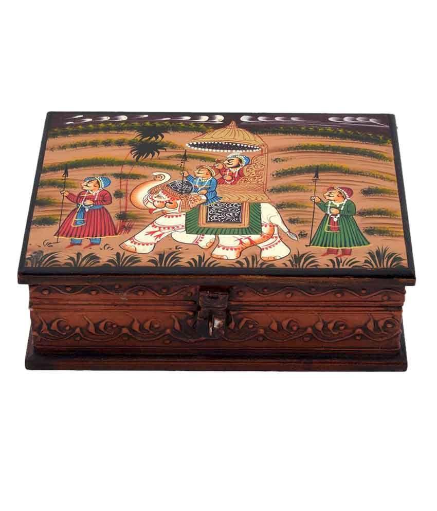 Kiran Udyog Multicolour Wooden Jewellery Box