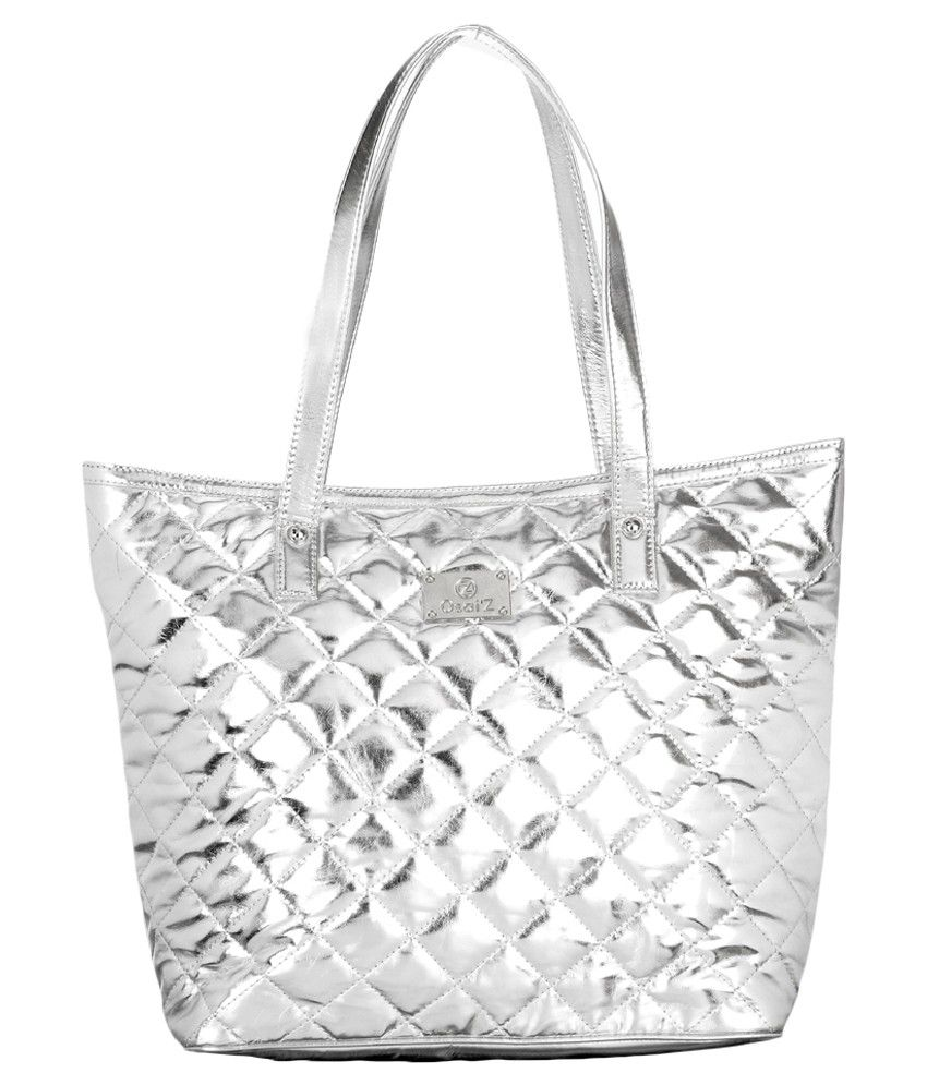 b0990c799 Osaiz Silver Tote Bag - Buy Osaiz Silver Tote Bag Online at Best Prices in  India on Snapdeal