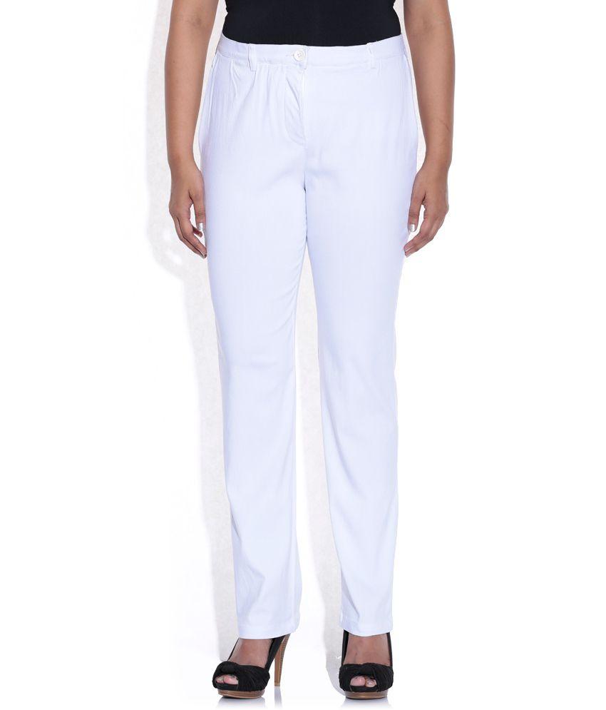 Revolution White Denim Trousers