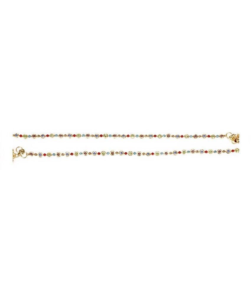 Taj Jewels Multicolour Anklets