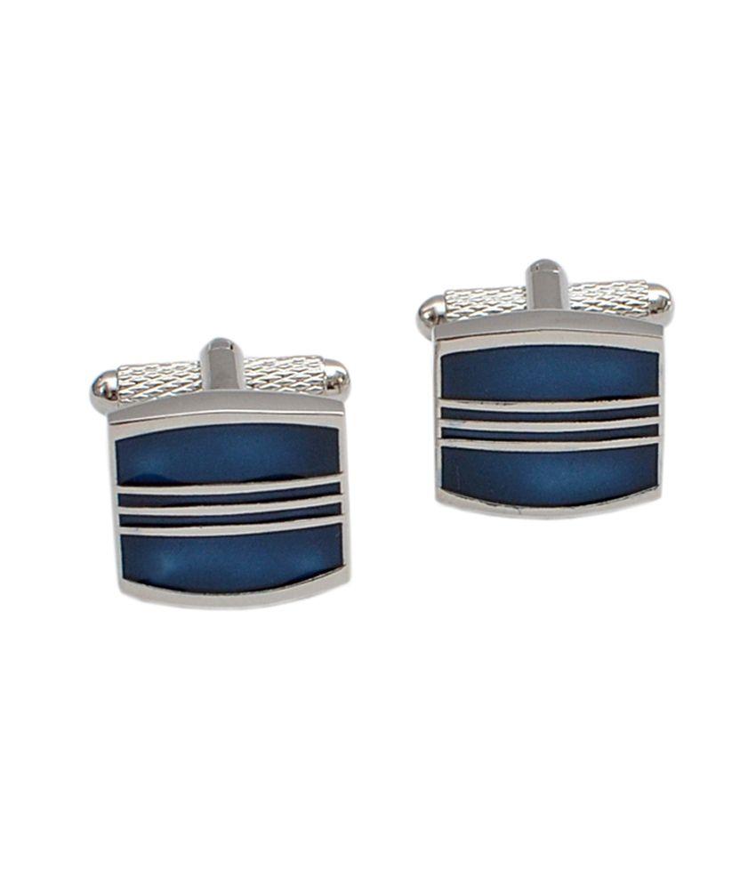 Alvaro Castagnino Blue Metal Stone Cufflinks
