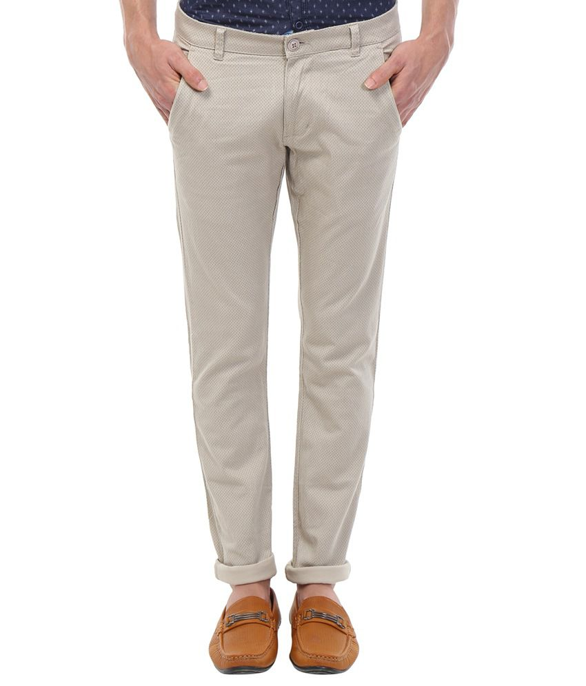 Vintage Grey Slim Fit Wear Chinos