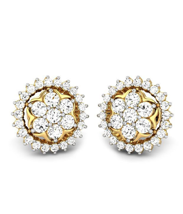 Candere Bhavya Diamond Earring 14k Yellow Gold