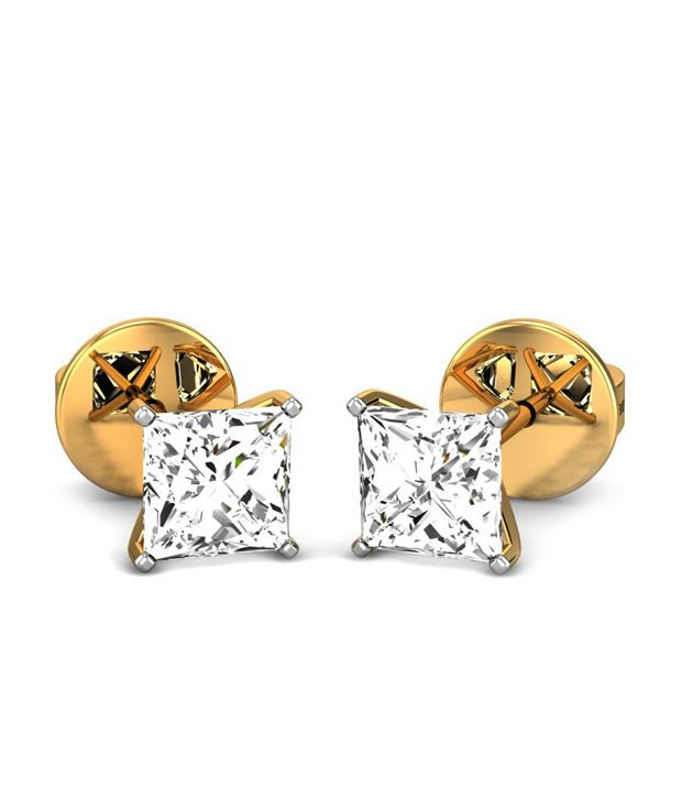 Candere Kelsee Diamond Earring 14k Yellow Gold