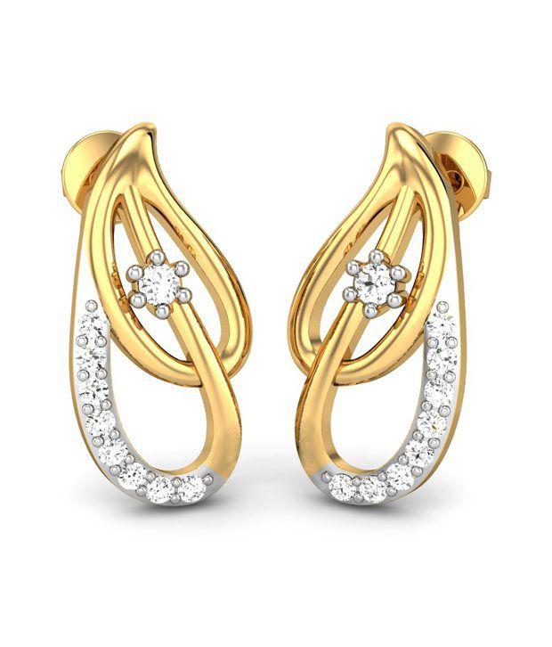 Candere Sandya Diamond Earring 14k Yellow Gold