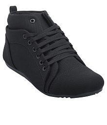 Hansx Black Casual Shoes
