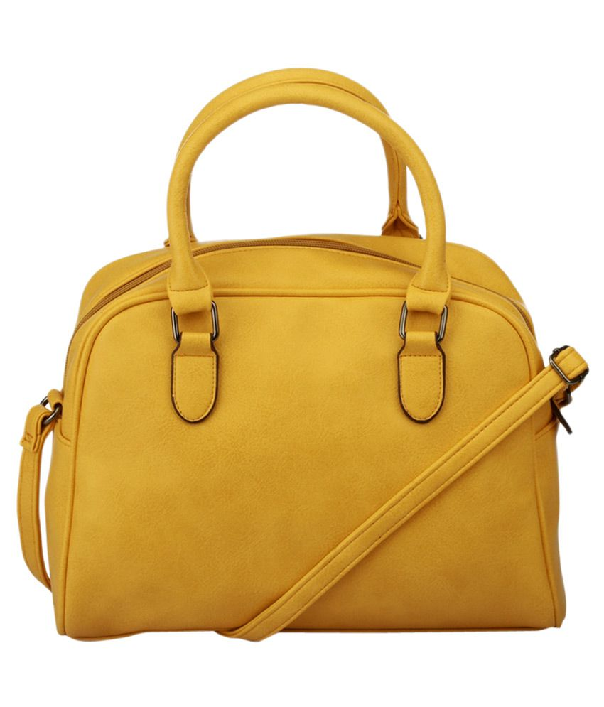 Caprese Yellow Casual Satchel Bag - Buy Caprese Yellow Casual ...