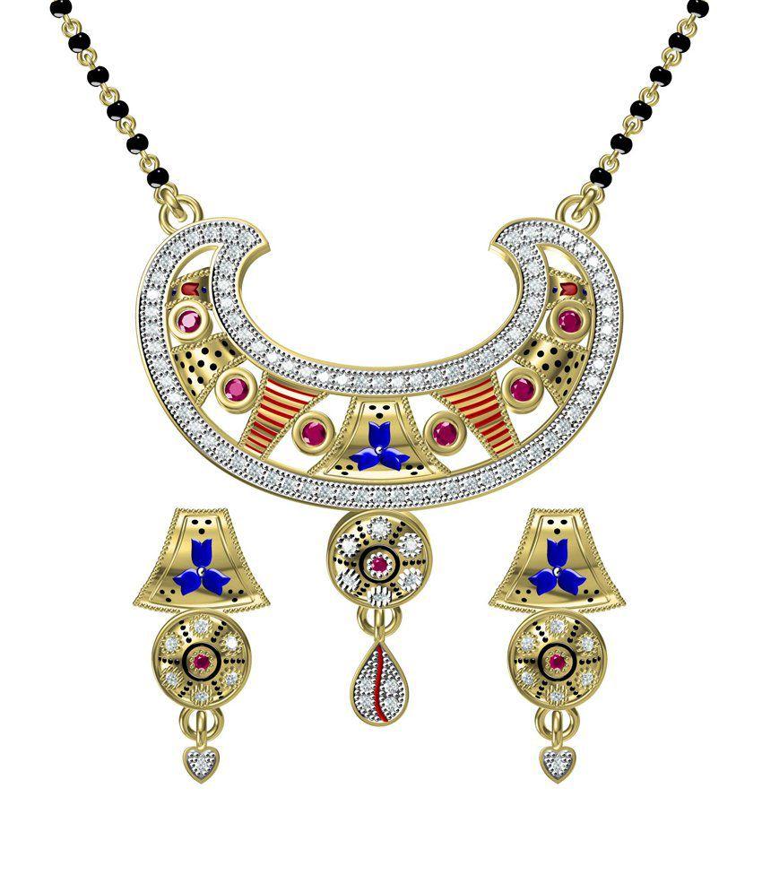 Fashion Khazana Multicolour Alloy Mangalsutra Set