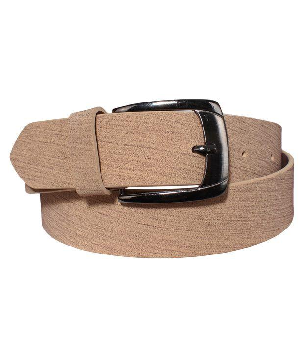 Klaska Cheerful Tan Casual Belt For Men