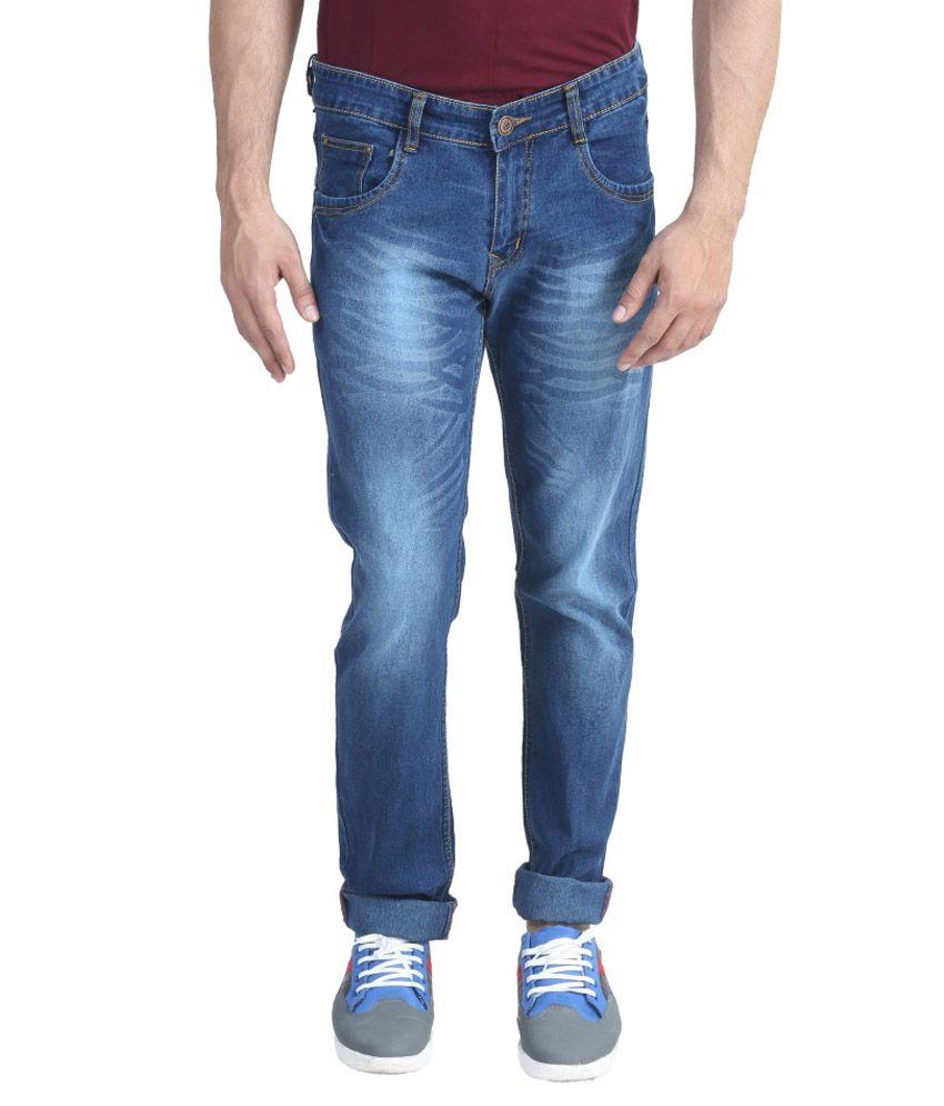 Asint Blue Regular Fit Jeans