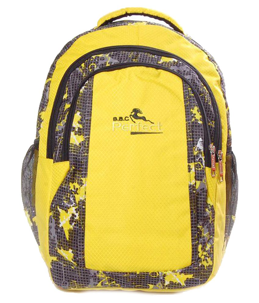 BBC Perfect Yellow Matty Laptop Bag