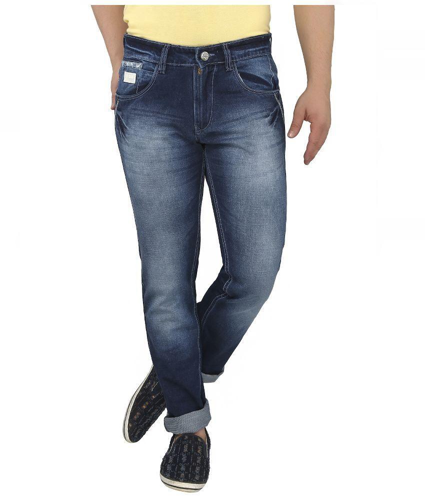 Louppee Blue Slim Fit  Jeans