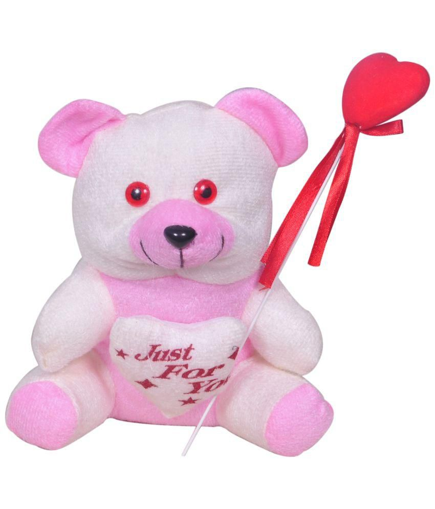 Trust Me Trust Me Pink and White Polyester Love Popstickle Soft Teddy