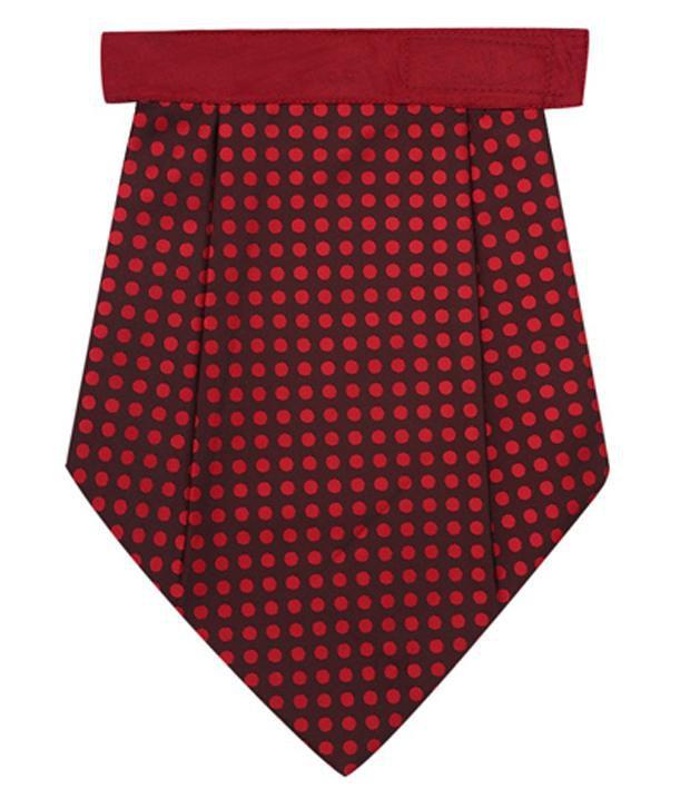 Eccellente Red Polka Dot Cravat And Pocket Square