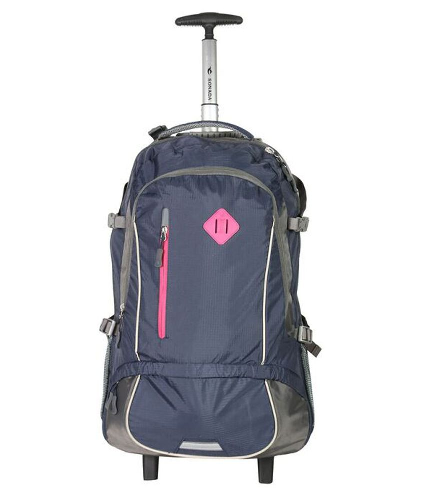 Sonada Navy 2 Wheel Trolley Backpack