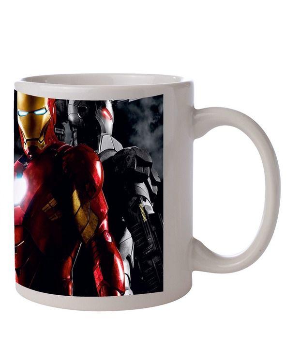 Zanky Iron Man- Multicolor Printed Coffee Mug (Pack of 1)