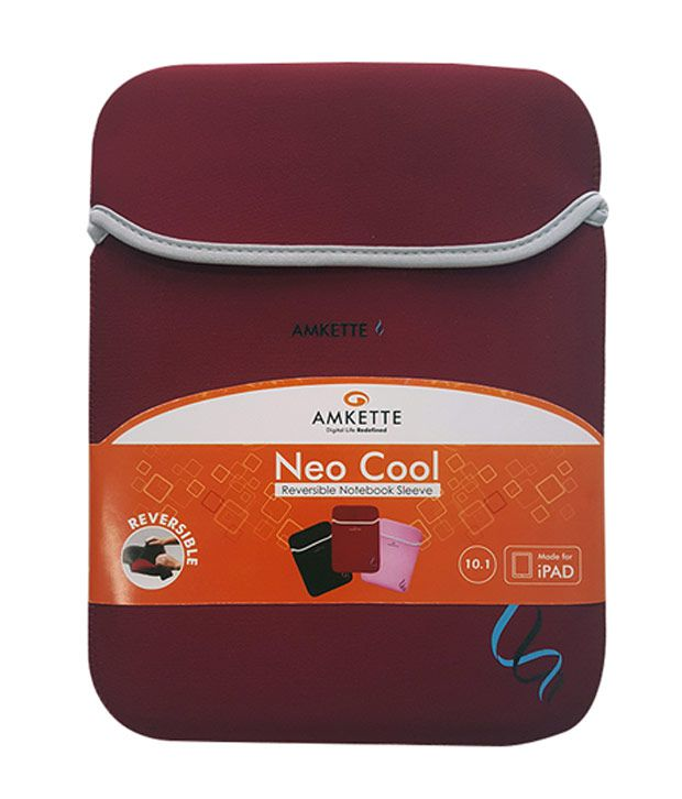 Amkette Neo Cool Laptop Sleeves 10.1 inch (Red)