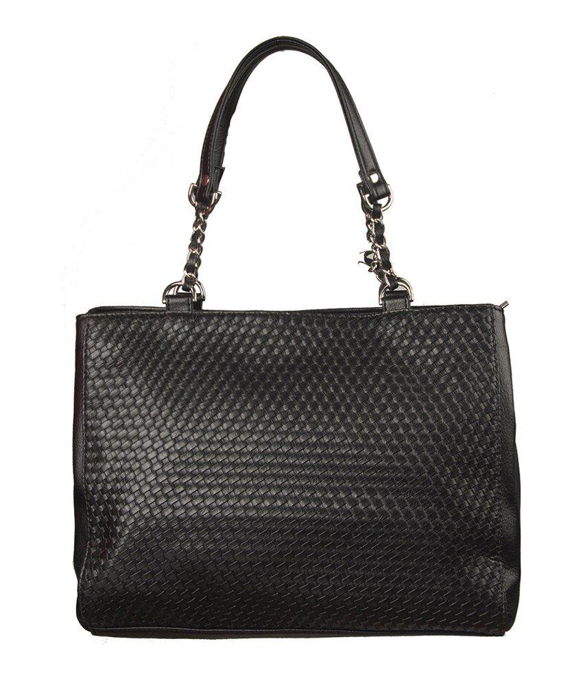 Morsei Black Pu Shoulder Bag