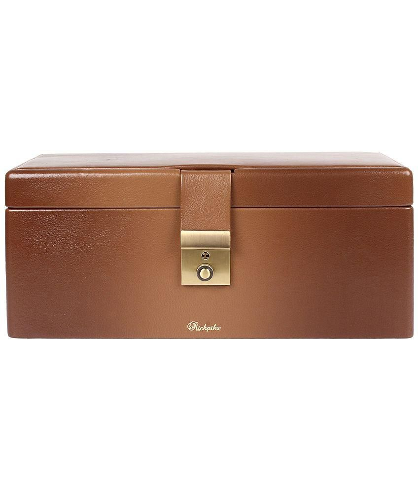 Richpiks Brown Wooden Jewellery Box