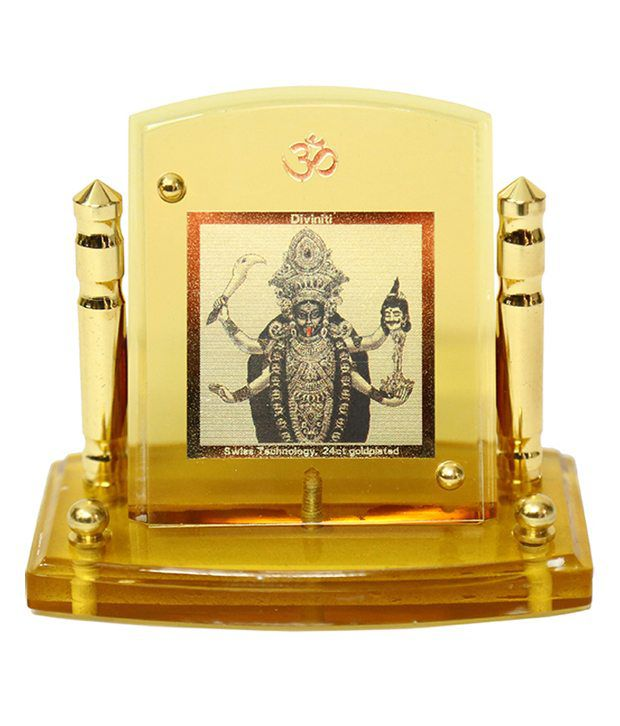 Diviniti 24krt Gold Plated Kali God Idol For All Cars Multicolour