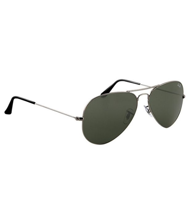 ray ban 3025 58 14  Ray-Ban Green Aviator Sunglasses (RB3025 004/58 58-14) - Buy Ray ...
