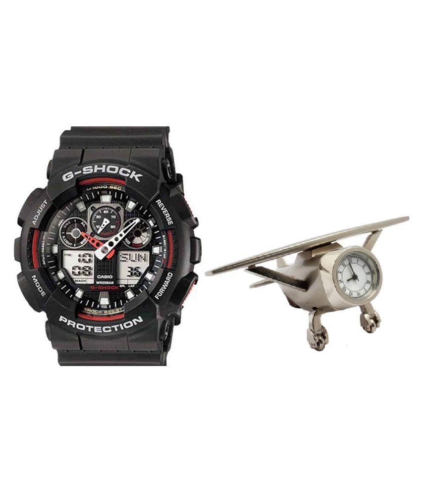 c362a7bacdefb Casio G-Shock GA-100-1A4DR (G272) Analog-Digital Men s Watch With Airplane  Timepiece - Buy Casio G-Shock GA-100-1A4DR (G272) Analog-Digital Men s Watch  With ...