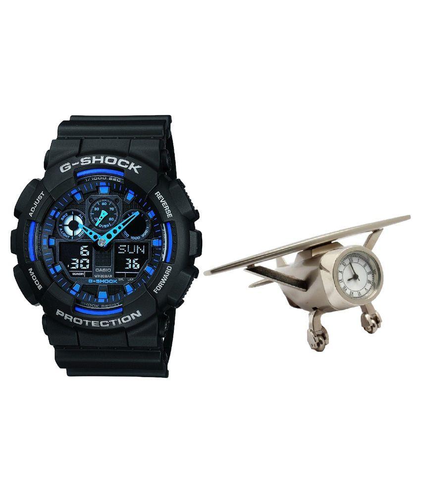 e300652b4086 Casio G-Shock GA-100-1A2DR (G271) Analog-Digital Men s Watch With Airplane  Timepiece - Buy Casio G-Shock GA-100-1A2DR (G271) Analog-Digital Men s Watch  With ...