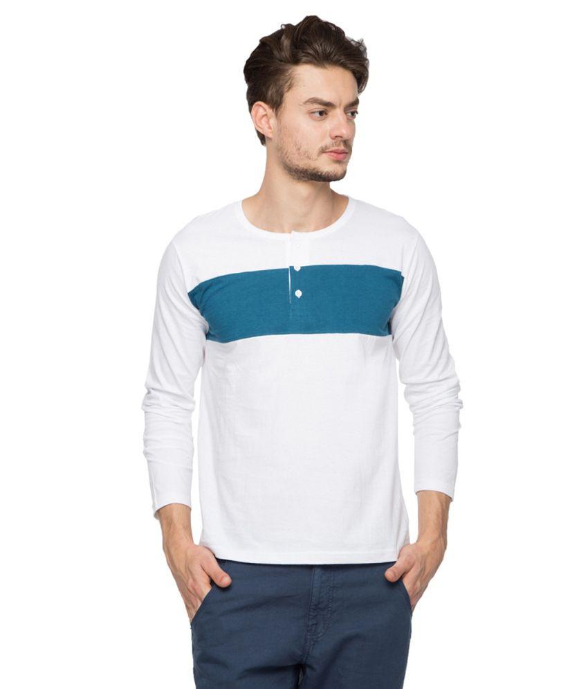 Afylish White Cotton T-shirt