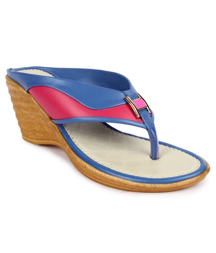Royaute Multicolor Wedges Heels