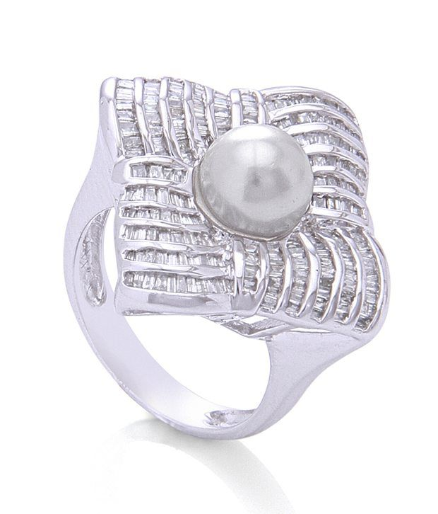 Silver Taper Jewels 92.5 Sterling Silver Ring