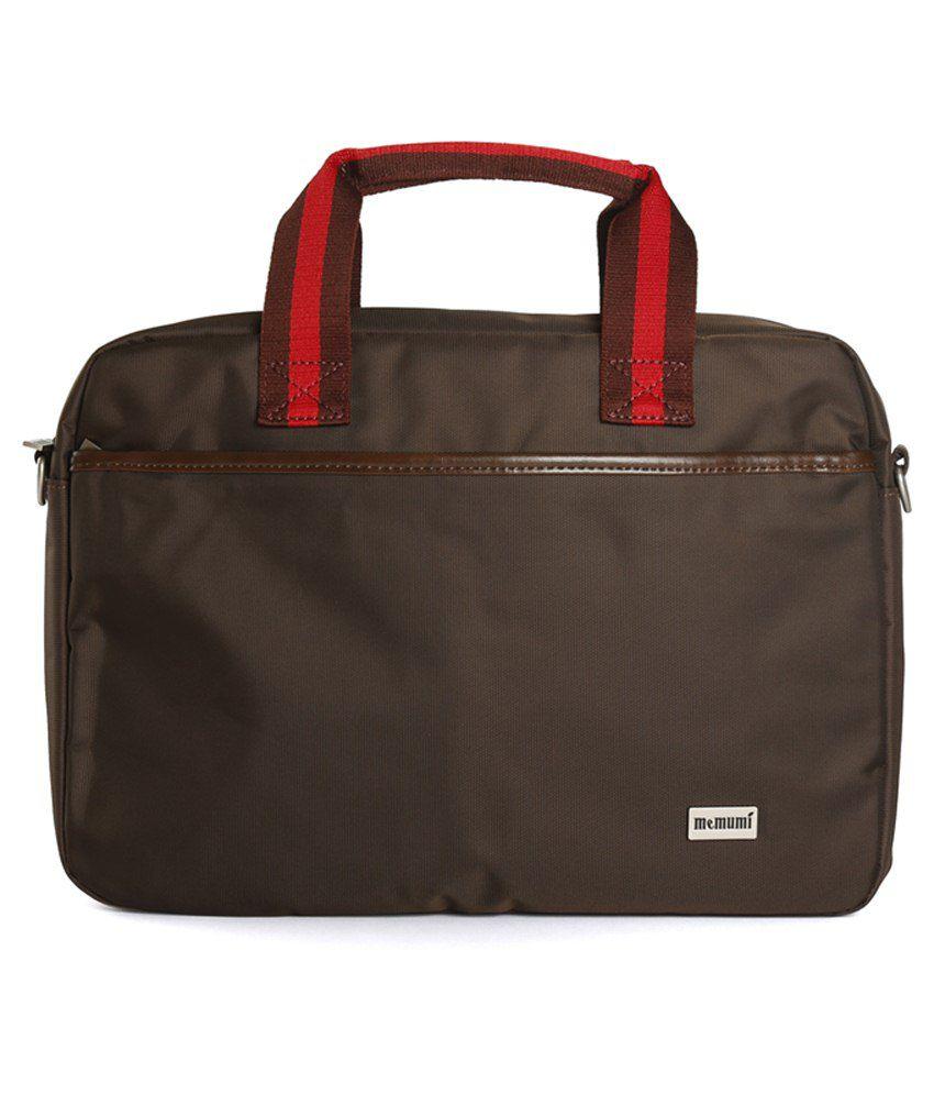 Memumi Brown Laptop Bag