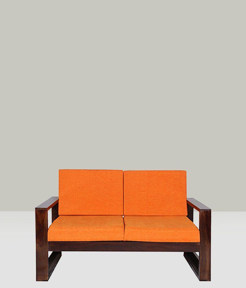 Sheesham Wood 4  Seater Sofa Set In Walnut Finish (2+1+1)
