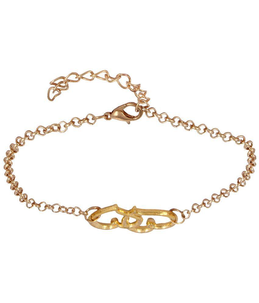 Fayon Golden Alloy Colour Spark Coloured Bead Single Anklet