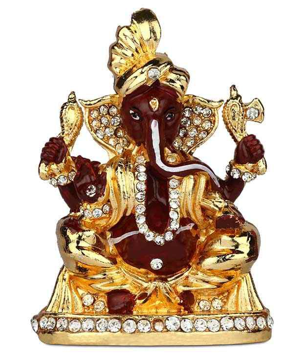 Giftsrus India Brown Ganesha Idol
